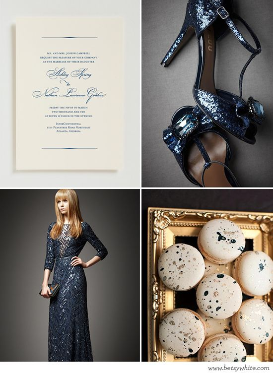 Navy Blue Glam! // Flights of Fancy (click for image sources)