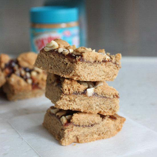 Peanut Butter & Jelly Bars | Brownies and Bars | Pinterest