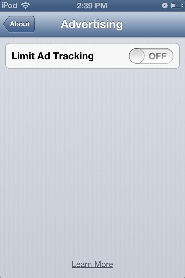 limit ad tracking on iphone ios 7