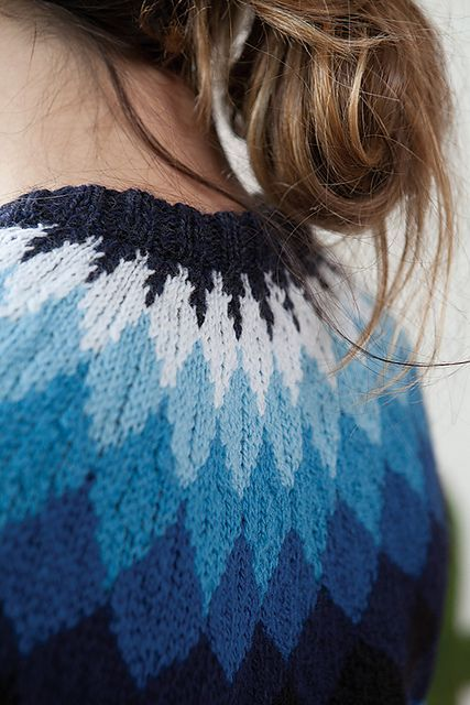 Feather sweater pattern