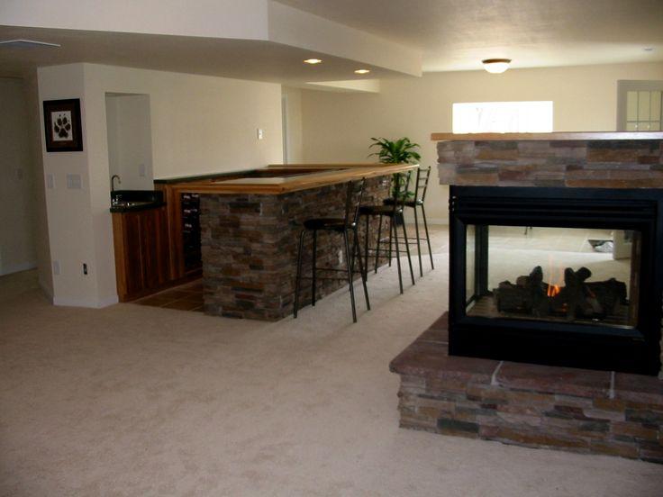 Fireplace Basement Pinterest