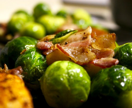 Sauteed Brussels Sprouts with Pancetta | YUMMY Recipes | Pinterest