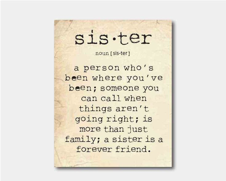 Wall Art Quotes For Sisters : Wall art a sister is person quote