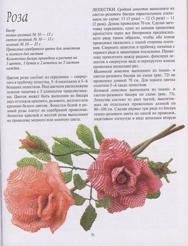 Цветы из бисера федотова валюх