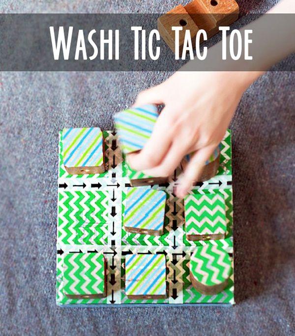 Make a tic tac toe game using washi tape