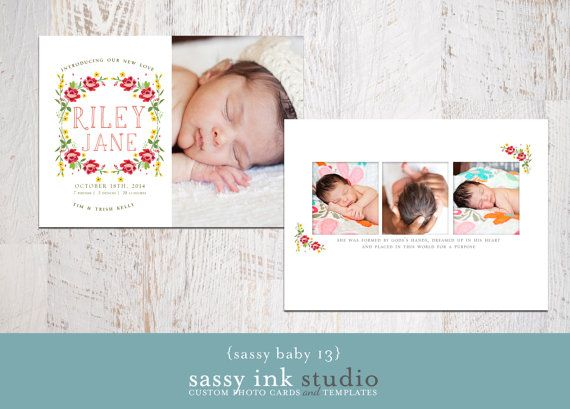 baby girl announcement templates .