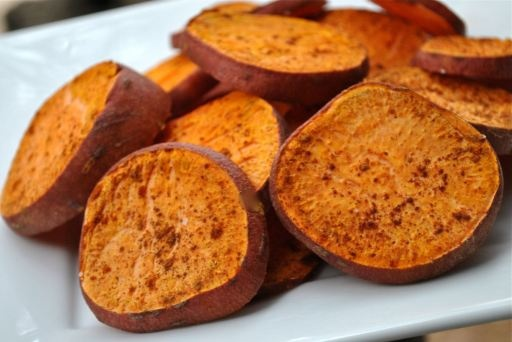 spicy roasted sweet potato rounds | Vegetables | Pinterest