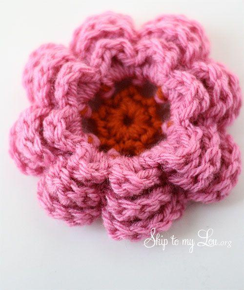 large crochet flower
