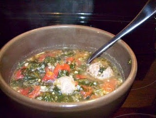 Hearty Italian Sausage and Spinach Soup - hubby and toddler approved