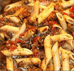Pasta with Eggplant and Tomato Sauce | Food | Pinterest