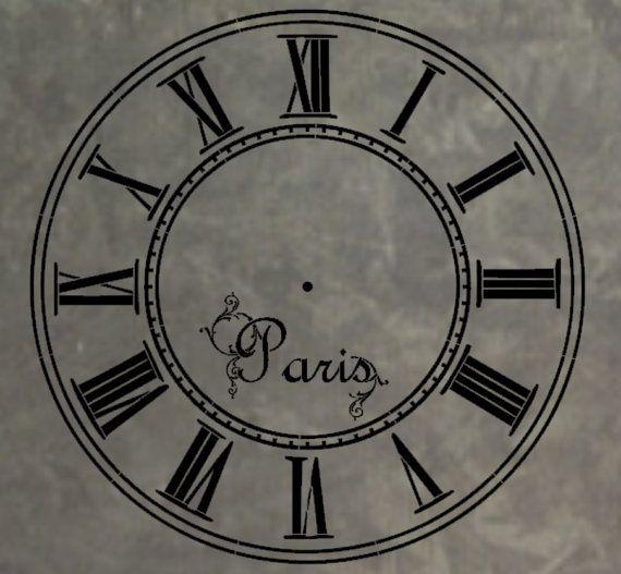 Clock Stencil 12x12 reusable mylar stencil by MoreThanWordsVinyl, $24 ...