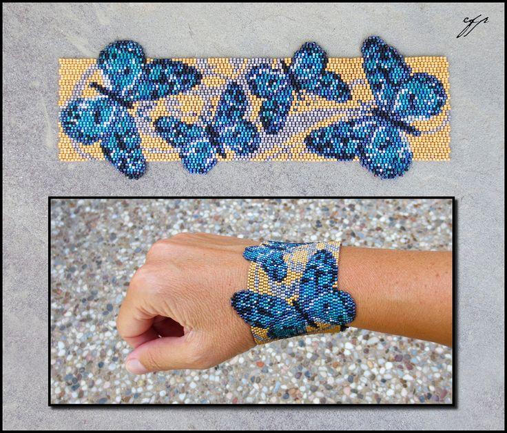 Мозаичный браслет из бисера своими руками
