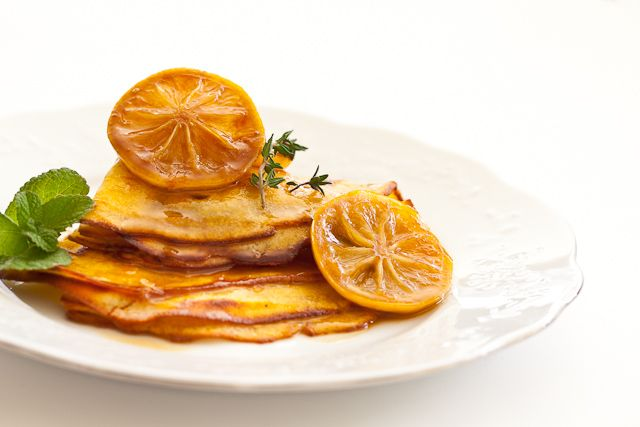 love lemon! Crepes with Salted Lemon Butter Caramel.