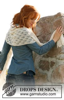 Leaf Lace Scarf - Knitting Patterns and Crochet Patterns