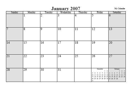 Cool calendar generator!! Type in your dates and it automatically adds ...