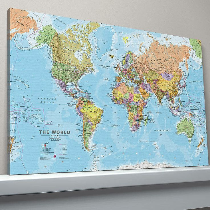 world canvas map print