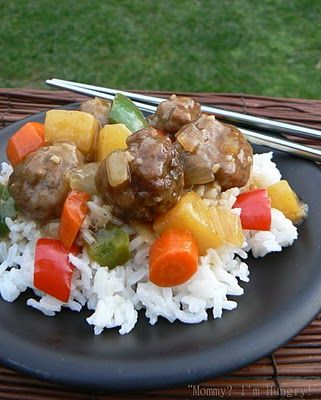 MIH Recipe Blog: Mom's Sweet and Sour Meatballs