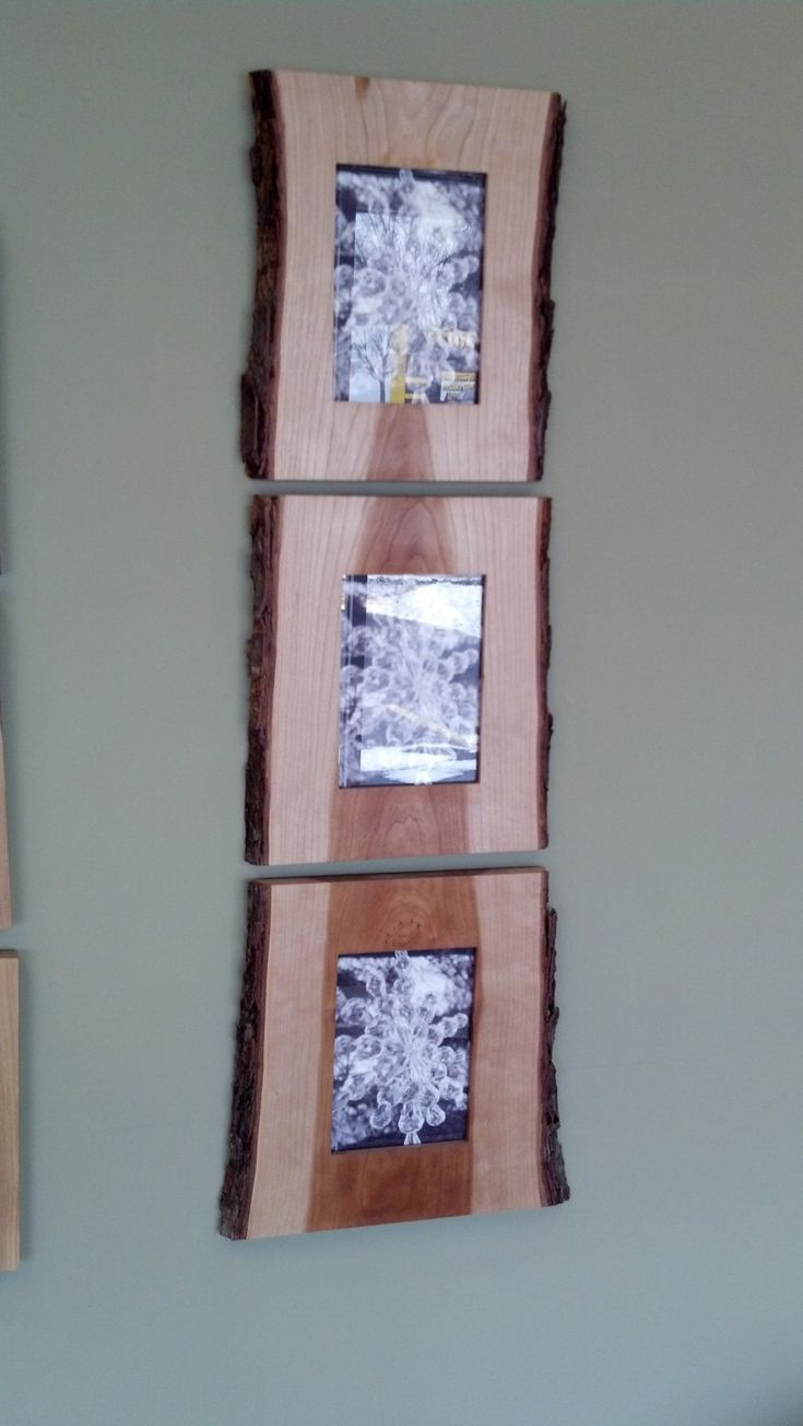 Latest from Gillengerten Carpentry - Three Live Edge Picture Frames, via Etsy.