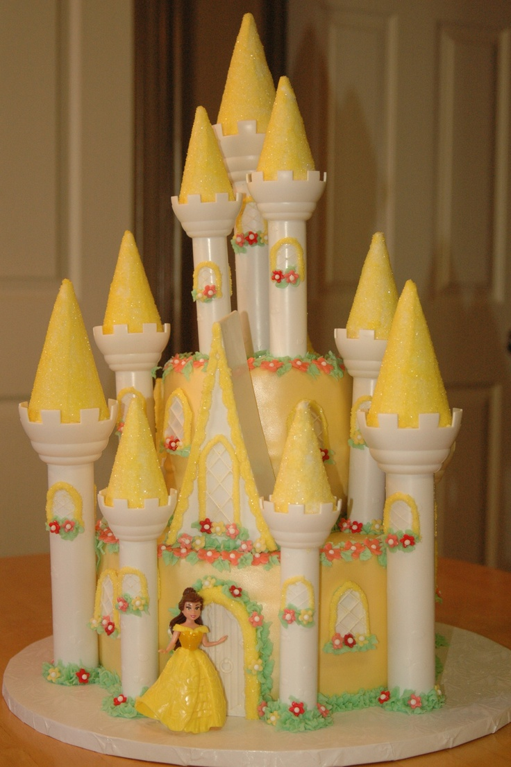 Pin princess belle cake ideas and designs