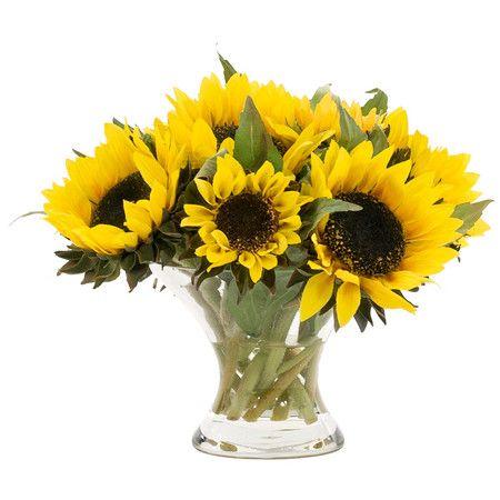 Faux Sunflower Arrangement Fun Ideas Pinterest