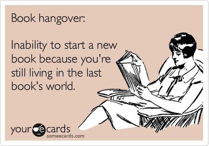 book hangover!