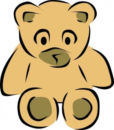 stylized_teddy_bear_clip_art_ | Ours dessins | Pinterest