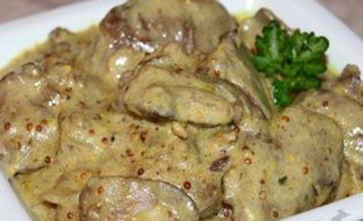Рецепт из куриной печени в сливках с пошагово