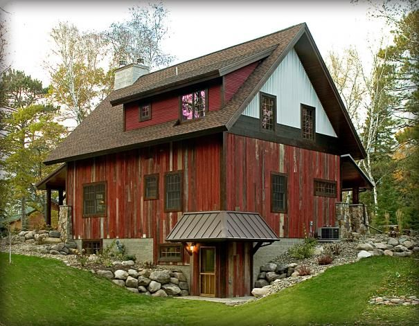 Barn wood pole barn house pinterest for Rustic barn designs