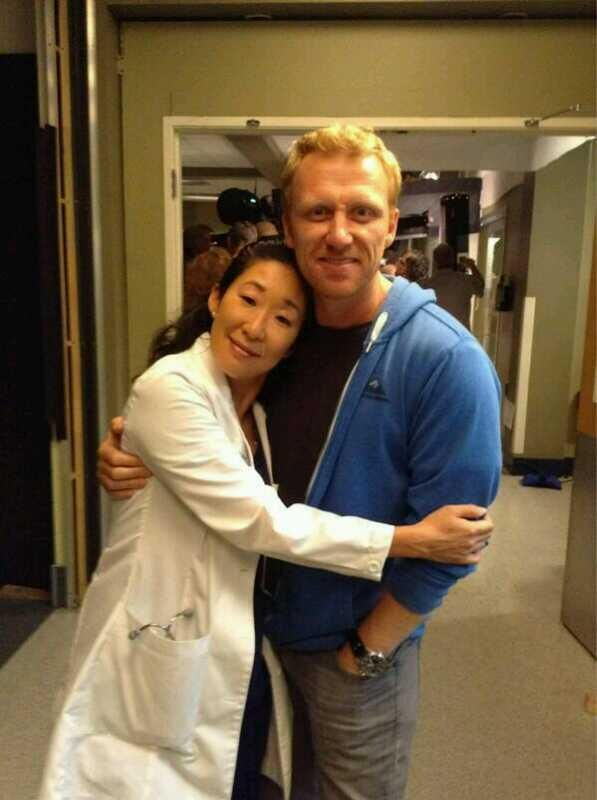 Sandra Oh and Kevin McKidd off set  So freaking adorable  I love them    Kevin Mckidd And Sandra Oh