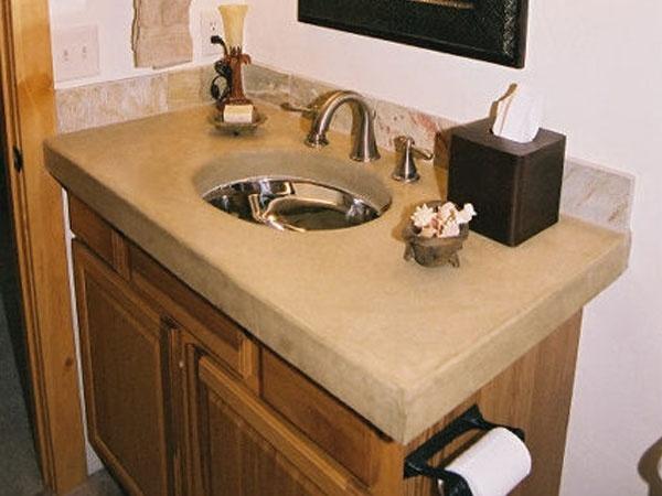 diy bathroom concrete countertop bathroom