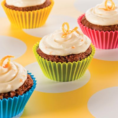 Pumpkin Carrot Cupcakes with Orange-Cream Cheese Frosting (Easy; 24 ...