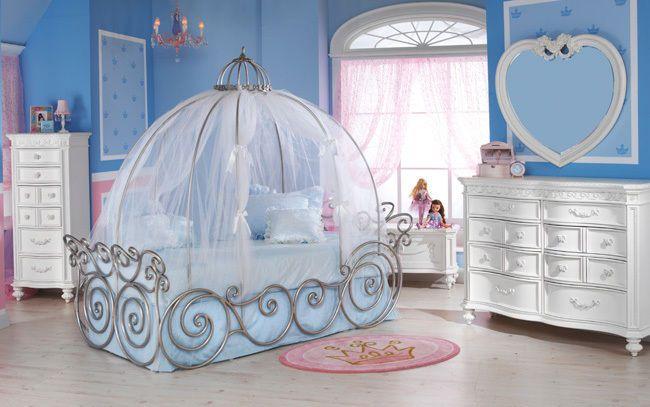 Disney princess carriage bedroom set