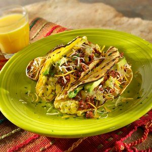 ... spicy green onion breakfast tacos spicy sweet potato avocado tostadas