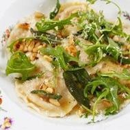 Butternut Squash ravioli with sage and pine nut butter- homemade pasta ...