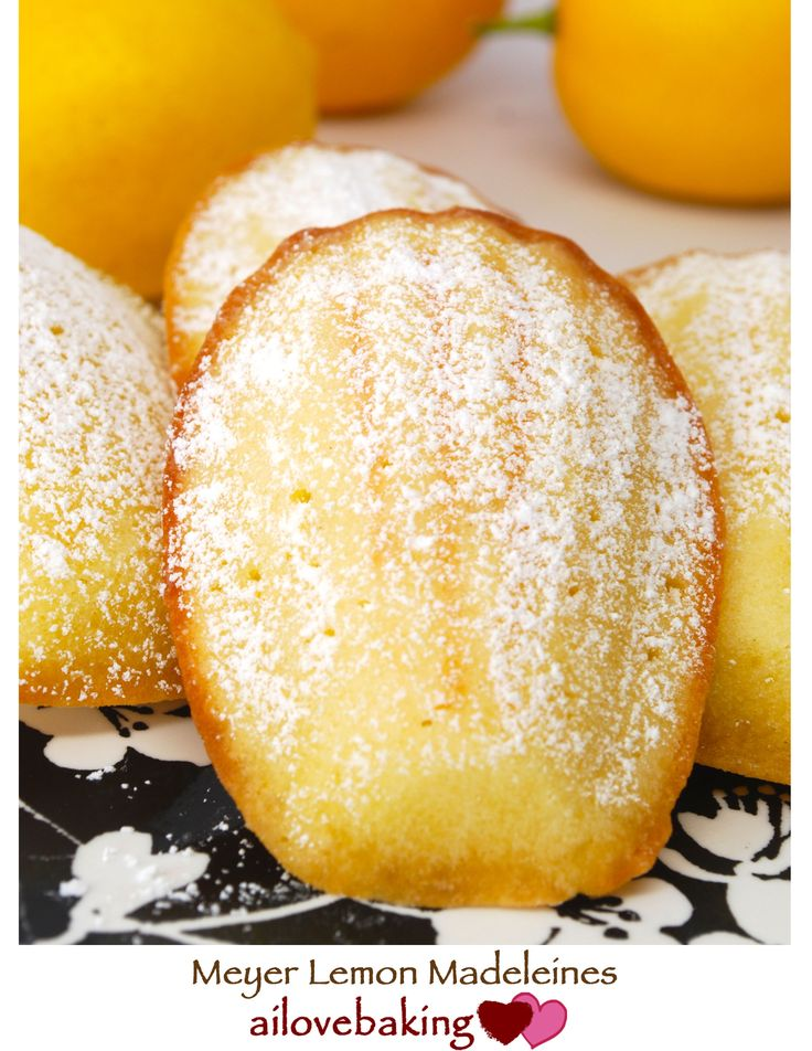 meyer lemon madeleines...I just got a madeleine pan & can't wait to ...