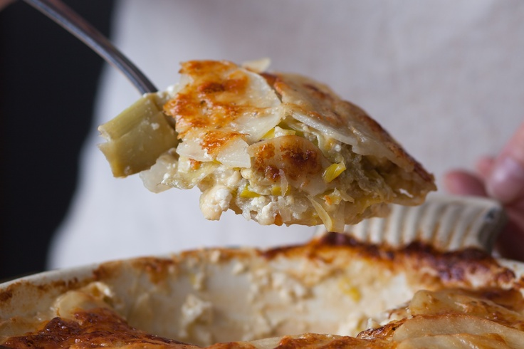 Artichoke, Leek And Potato Casserole Recipe — Dishmaps