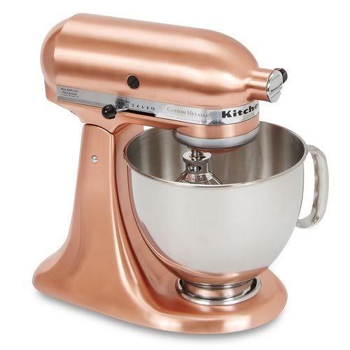 Copper KitchenAid Mixer H O M E G A R D E N Pinterest