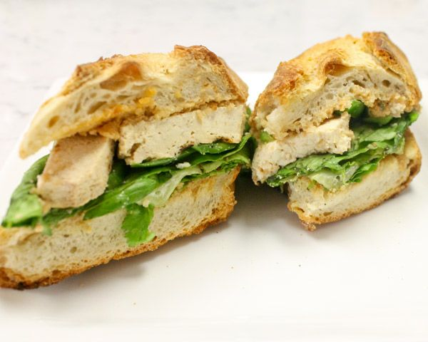 Grilled Tofu Sandwich with Peanut Dressing | Recipe