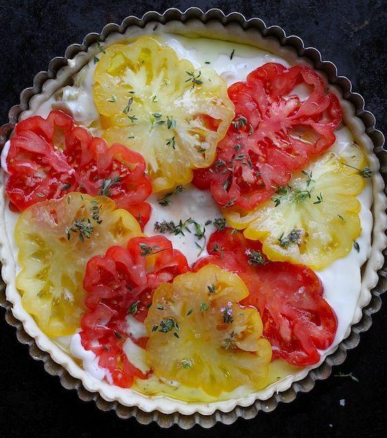 Savory Tomato Tart   How I eat   Pinterest