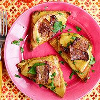 Welsh Rarebit On Beer Waffles With Bacon And Tomatoes Recipes ...