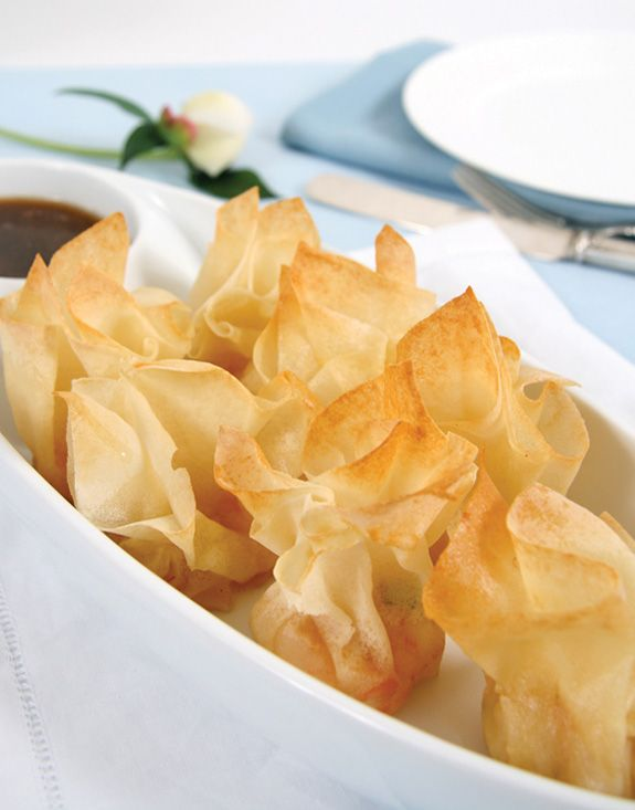 crispy shrimp wonton with sesame ginger dressing | anna blog