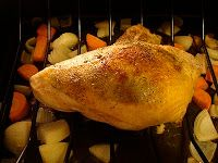Brined Roast Turkey Breast {HotDinnerHappyHome.blogspot.com}