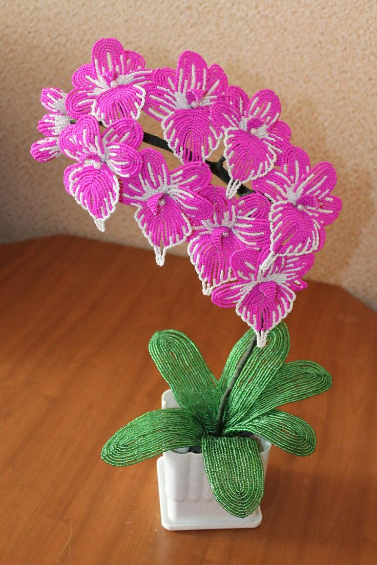 Цветы из бисера фото подробно