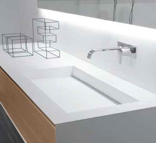 corian sink bathroom
