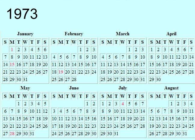 Pin 1973 Calendar Excel Download View Version April on Pinterest