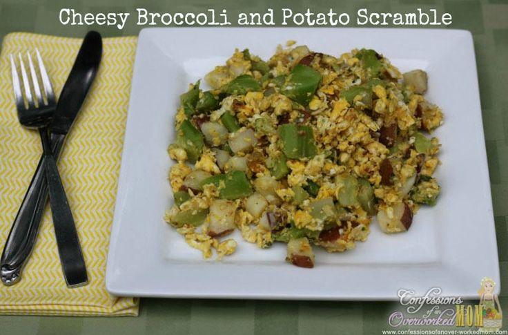 Cheesy Broccoli and Potato Scramble- next time cut potatoes smaller ...