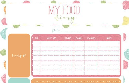 Printable Food Diary Instant Download by PrintADo on Etsy | Why didn't ...