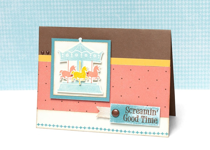 """Screamin' Good Time"" card idea from #CTMH."