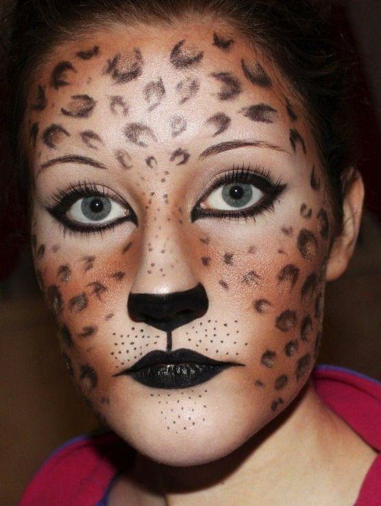 Leopard face | Face Painting ideas | Pinterest