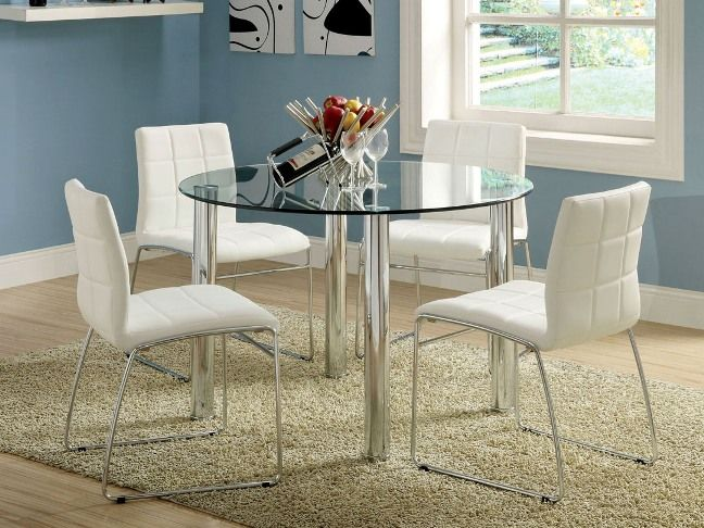 Round glass dining table ikea condo pinterest - Round glass dining table ikea ...
